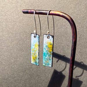 Rectangle Lichen Earrings
