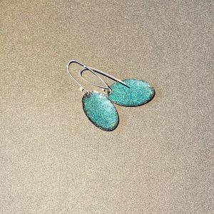 Lichen Oval Earrings