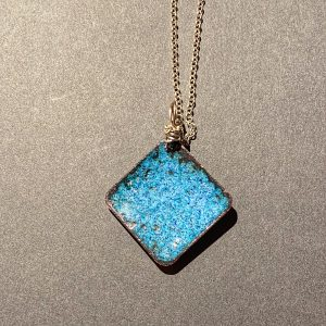 Square Pendant with Leaves