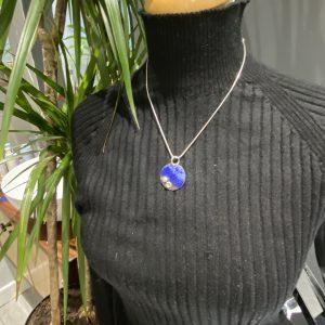 Round Sea Colour Pendant with Pebbles