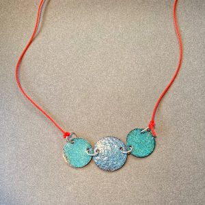 Three Disc Hot Colours Necklace