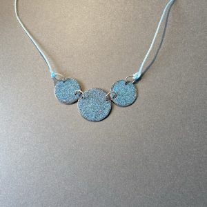 Three Disc Cool Blue Necklace